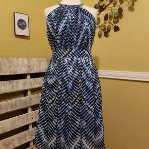 Calvin Klein Razorback Dress in Blues Size 6